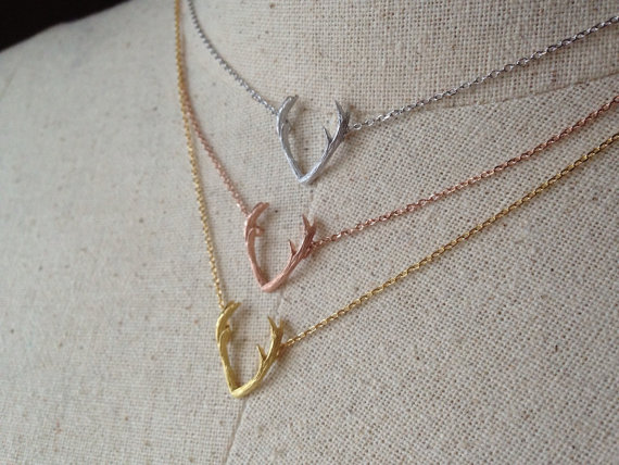 Antler necklace, dainty necklace