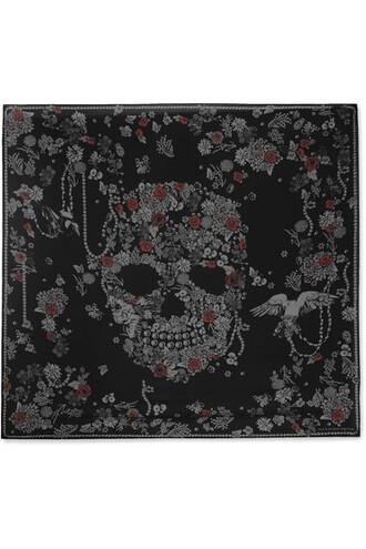 chiffon scarf black silk