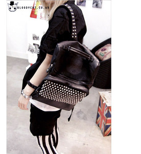 Leather Backpack With Spikes | Frog Backpack