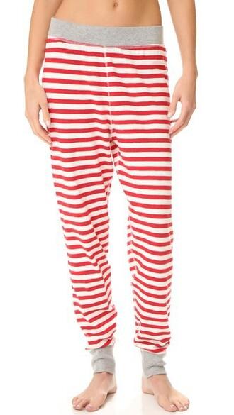 pants pajama pants red