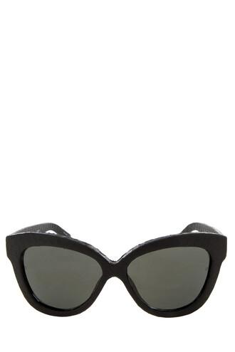 snake sunglasses black