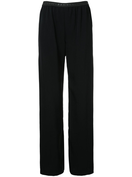 Zambesi - pleated trousers - women - Triacetate - 8, Black, Triacetate