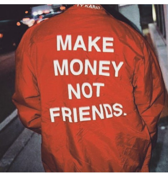 jacket t-shirt coat make money orange jacket orange money friends quote on it bomber jacket tumblr photography bomber jacket red make money not friends white make not fashion