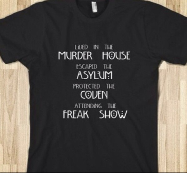 t-shirt american horror story mens t-shirt halloween creepy