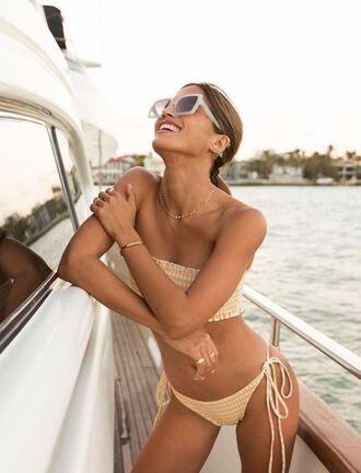 swimwear bikini bikini top bikini bottoms rocky barnes instagram blogger sunglasses