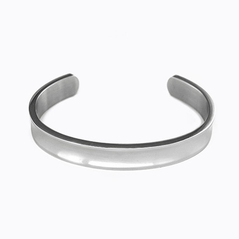 White Gold Plated Platinum Bangle