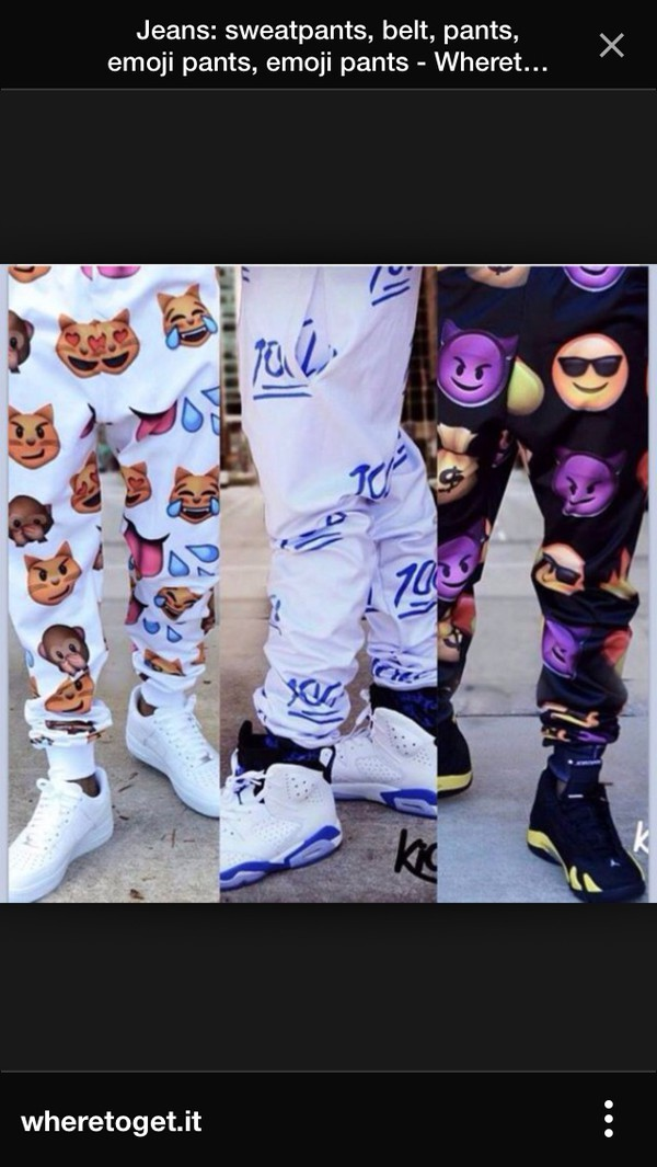 emoji pants emoji print pants