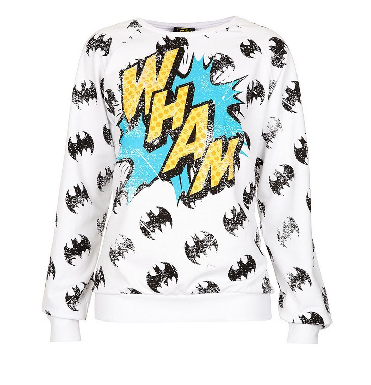 Free Shipping Batman \ 'Wham \' letters printed fleece NOT U3520-in T-Shirts from Apparel & Accessories on Aliexpress.com