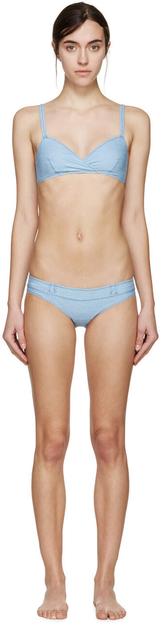 bikini denim blue swimwear