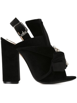 women embellished sandals leather black velvet shoes