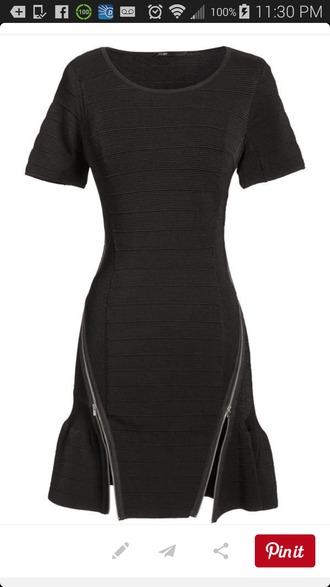 black dress zipper dress little black dress unique dress zip