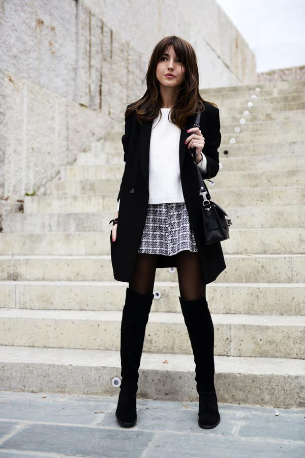 lovely pepa sweater skirt shoes jacket bag jewels
