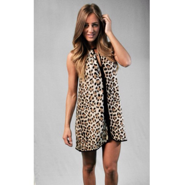 dress tishkah leopard mini leopard print