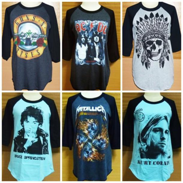 7ac510f2 t-shirt, baseball shirt, raglan shirt, heavymetal, heavy shirt ...
