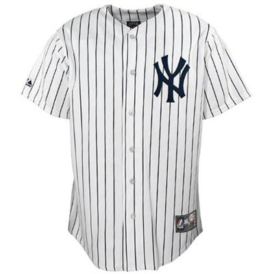 Majestic New York Yankees Preschool Replica Jersey - White Pinstripe - FansEdge.com