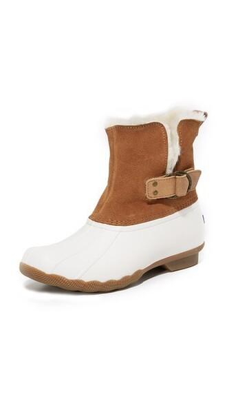 fur faux fur tan booties shoes