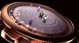 jewels watch space outer space moon and sun