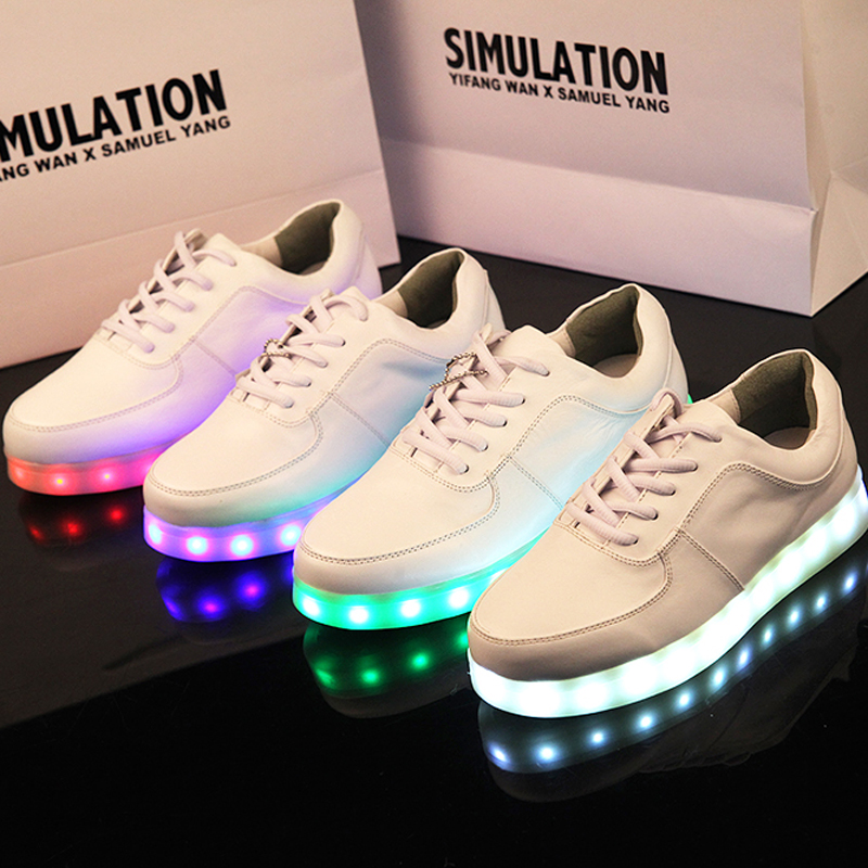 Simulation light shoes 2014 skateboarding men shoes women casual luminous shoes light up sneakers for adults tenis masculino-inFlats from Shoes on Aliexpress.com | Alibaba Group