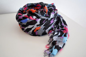 scarf,colorful,leopard print