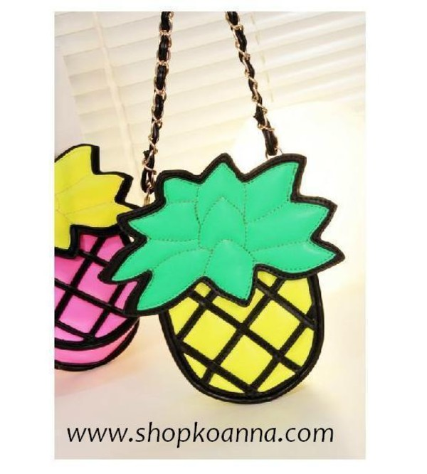 bag pineapple pineapple sling pineapple bag tumblr
