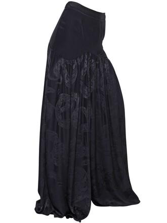 skirt snake jacquard silk black