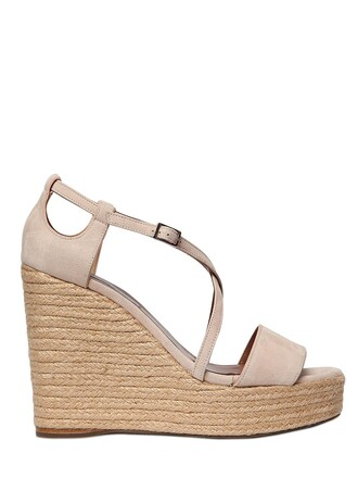 sandals wedge sandals suede light pink light pink shoes