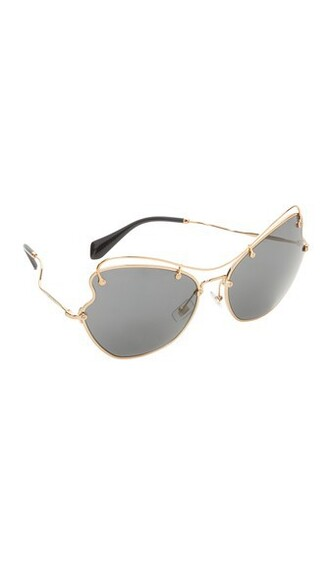 butterfly sunglasses gold grey