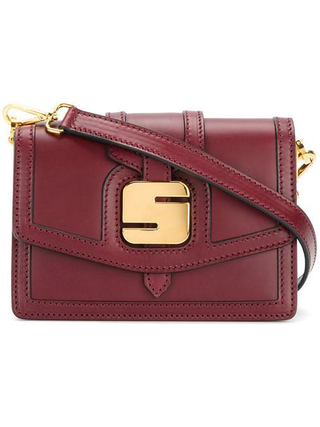 Serapian metal women bag shoulder bag leather red