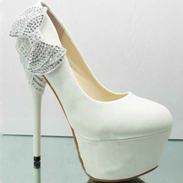 White high heels for prom