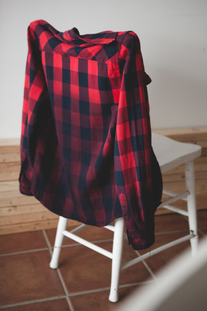 Navy Plaid Shirt Womens