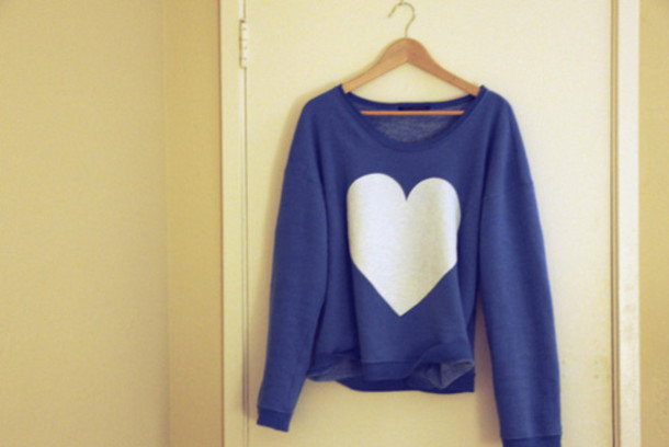 cotton white sweater blue sweater sweater pullover