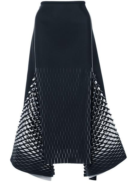 Dion Lee skirt midi skirt women midi spandex blue