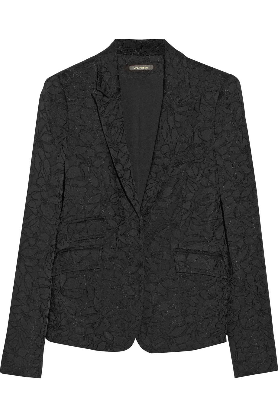 Zac Posen Embroidered satin blazer – 75% at THE OUTNET.COM