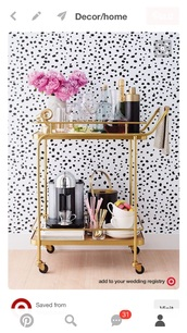 home accessory,wine cart decor bar cartt,gold