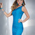 Hannah S 27828 Turquoise Bandage Sheath Prom Gown [Hannah S 27828 Dress] - $165.50 : 2014 New Evening/Prom Dress Cheap on PromNew.com.