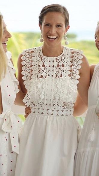 dress white bandeau lace