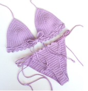 swimwear,girl,girly,girly wishlist,purple,bikini,bikini top,bikini bottoms,crochet,crochet bikini,swimwear two piece,two-piece