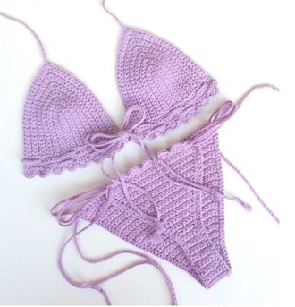 swimwear girl girly girly wishlist purple bikini bikini top bikini bottoms crochet crochet bikini swimwear two piece two-piece