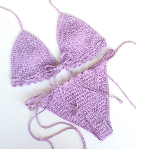 swimwear girl girly girly wishlist purple bikini bikini top bikini bottoms crochet crochet bikini swimwear two piece two-piece