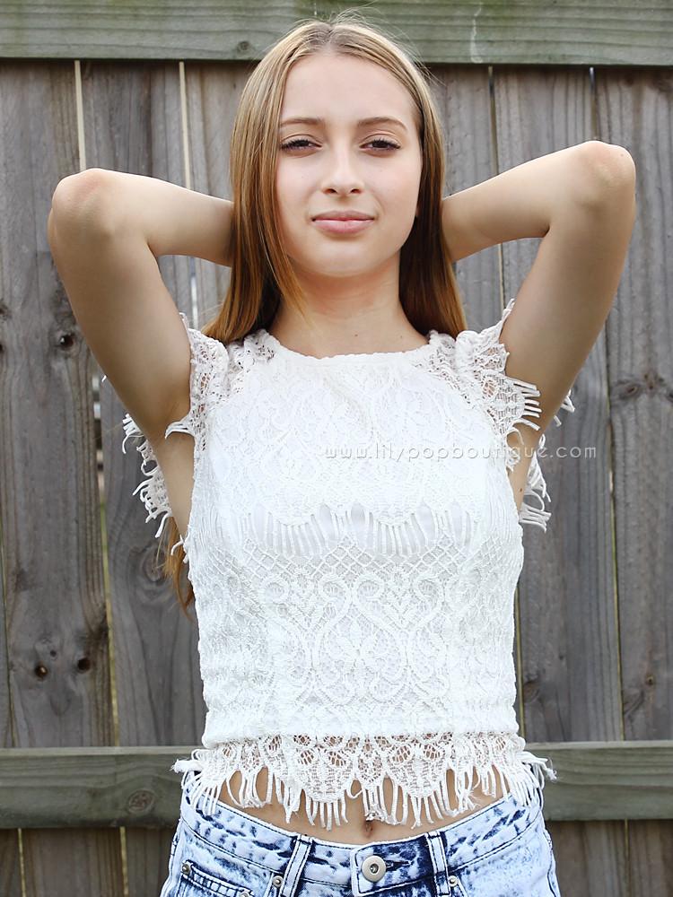 Bella white lace – lilypopboutique