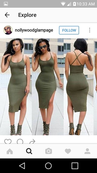 dress tight tight dresss green slit