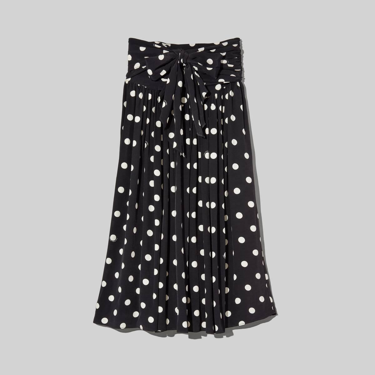 The '80s Skirt in Black/Ivory