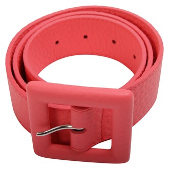 soft belt leather coral
