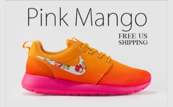 shoes pink mango nike roshe run