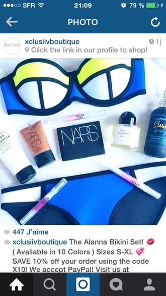 hair accessory blue bikini