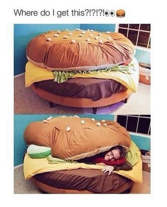 home accessory burger bed hamburger bedding