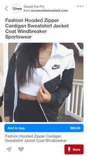 jacket,nike black and white windbreaker