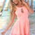 Pink Jump Suits/Rompers - Neon Peach Cut-out Playsuit with | UsTrendy