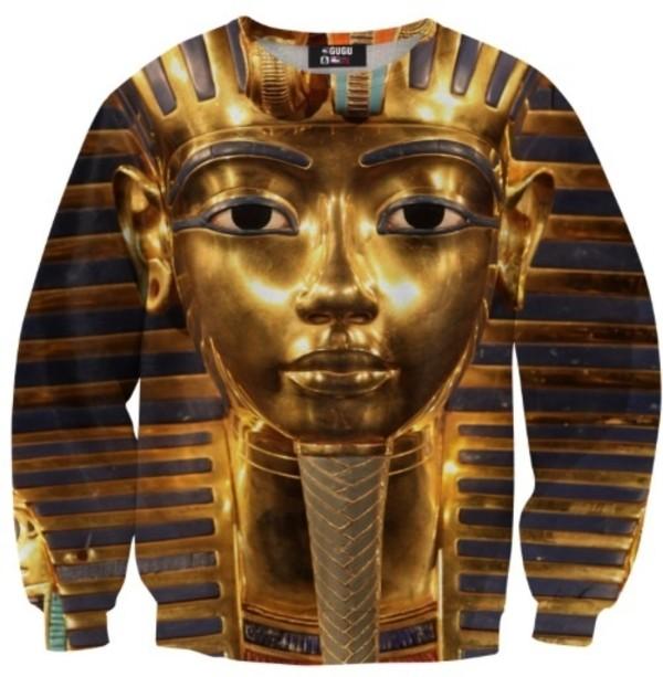 sweater gold pharoah