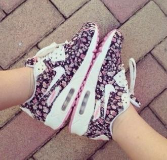 shoes air max floral nike nike purple nike air